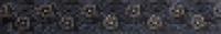 Бордюр В1524/2119 Гринвич черный 3,1x20 см