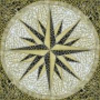 Керамическое панно Роза ветров SGK3030-4450-G