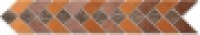 Бордюр 10002/3 Легенда коричневый 6,3x50,2 см