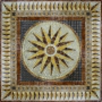Напольное панно из керамогранита HW9004 90х90 см