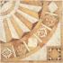 Декор композиция из 4 штук золото/серый 41х41